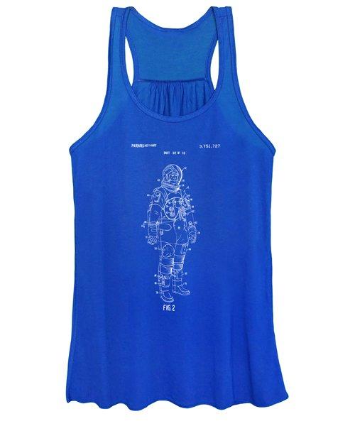 1973 Astronaut Space Suit Patent Artwork - Blueprint Women's Tank Top