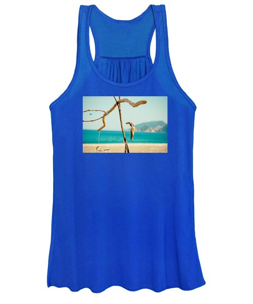 Nature Sculpture At Coast Seascape Artmif.lv Women's Tank Top