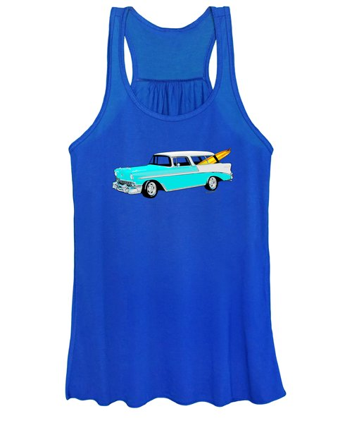 56 Chevy Nomad By The Sea In The Morning With Vivachas Women's Tank Top