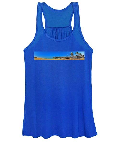 6x1 Venice Florida Beach Pier Women's Tank Top