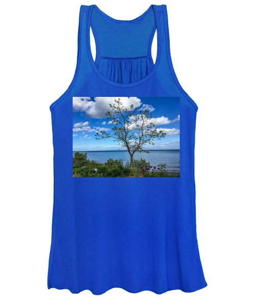 A Walk Along Lake Michigan Women's Tank Top