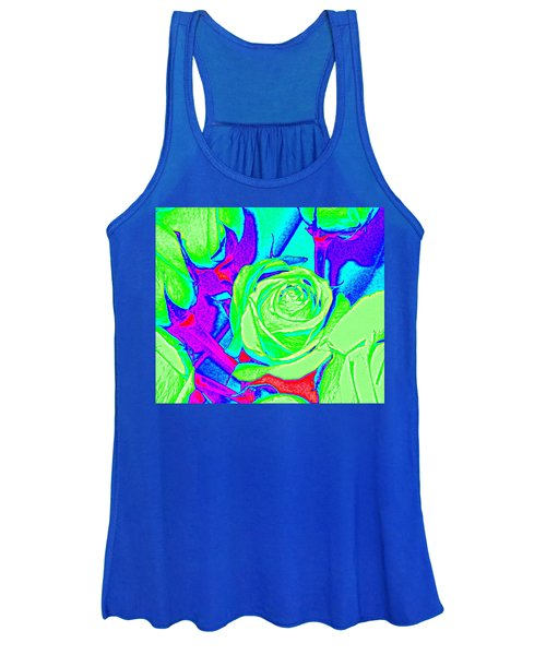 Abstract Green Roses Women's Tank Top