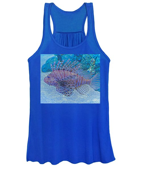 Abstract Lionfish Women's Tank Top