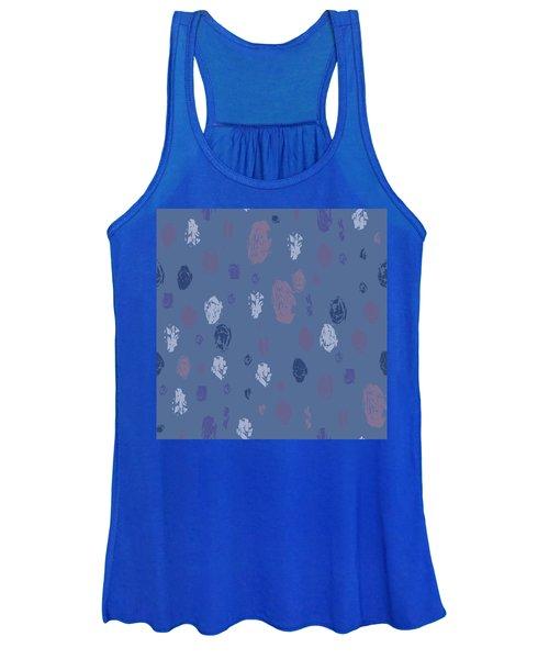 Abstract Rain On Blue Women's Tank Top