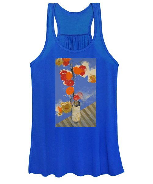 Abstracted Flowers In Ceramic Vase  Women's Tank Top
