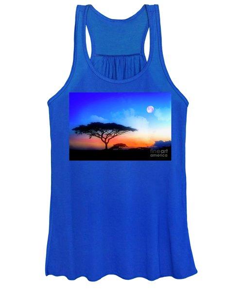 Acacia Sunset Women's Tank Top