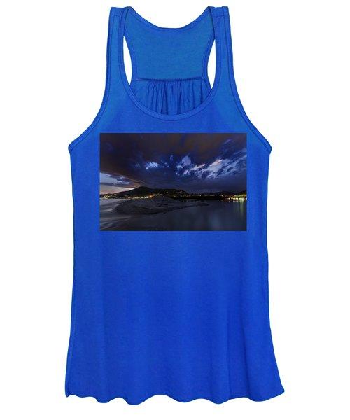 Albenga Alassio Coast Sunset With Clouds... Women's Tank Top