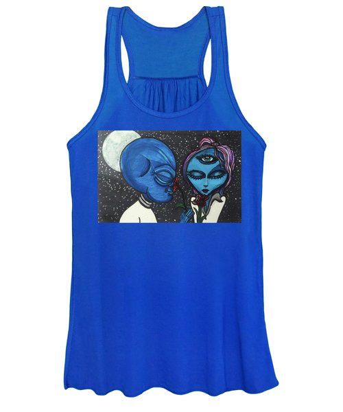 Aliens Love Flowers Women's Tank Top