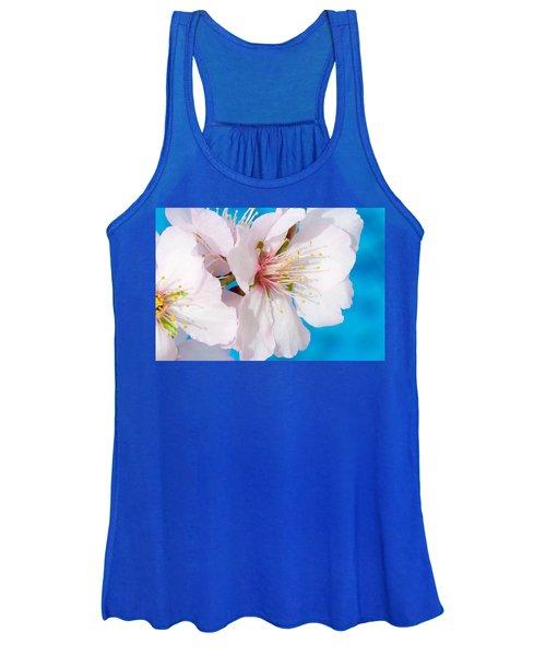Almond Tree Blossoms Women's Tank Top