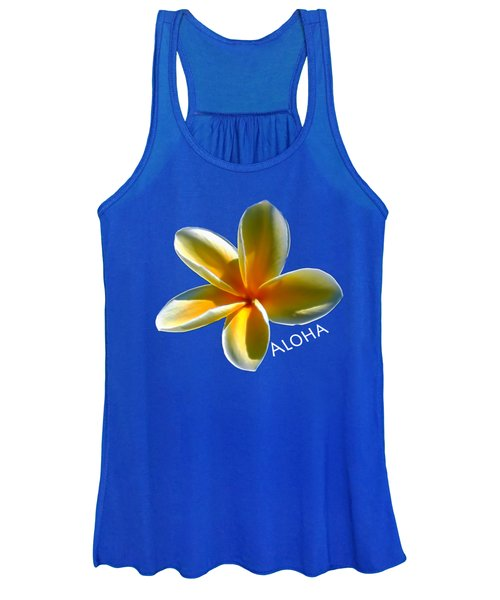 Aloha Plumeria Women's Tank Top