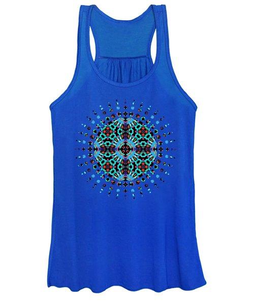 Aqua Geometric Mandala Women's Tank Top