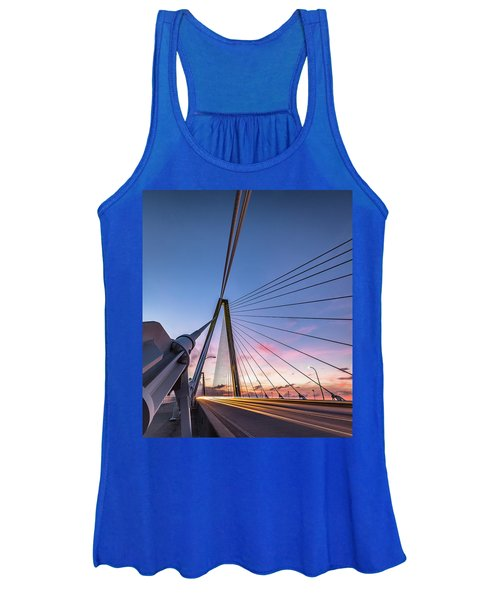 Arthur Ravenel Jr. Bridge Light Trails Women's Tank Top