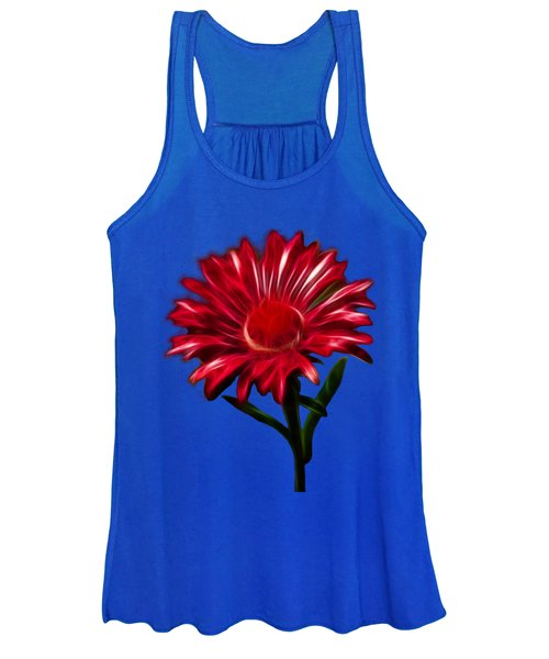 Women's Tank Top featuring the photograph Red Daisy by Shane Bechler