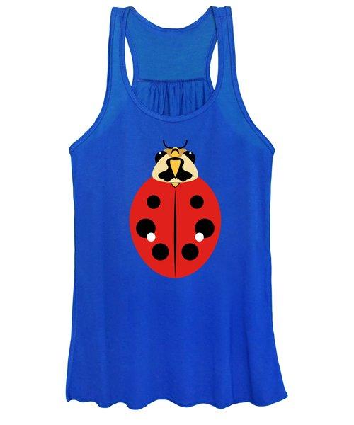 Ladybug Graphic Red Women's Tank Top