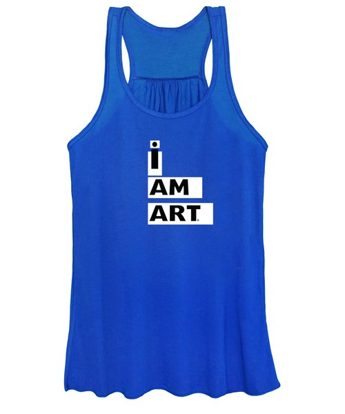 I Am Art Stripes- Design By Linda Woods Women's Tank Top