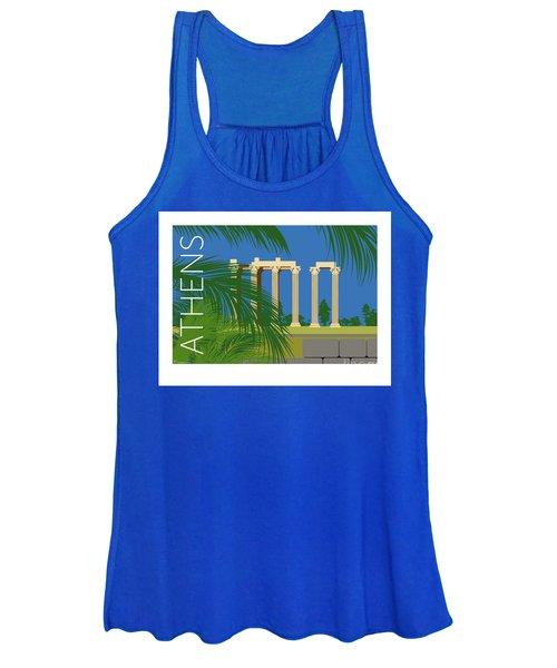 Athens Temple Of Olympian Zeus - Blue Women's Tank Top