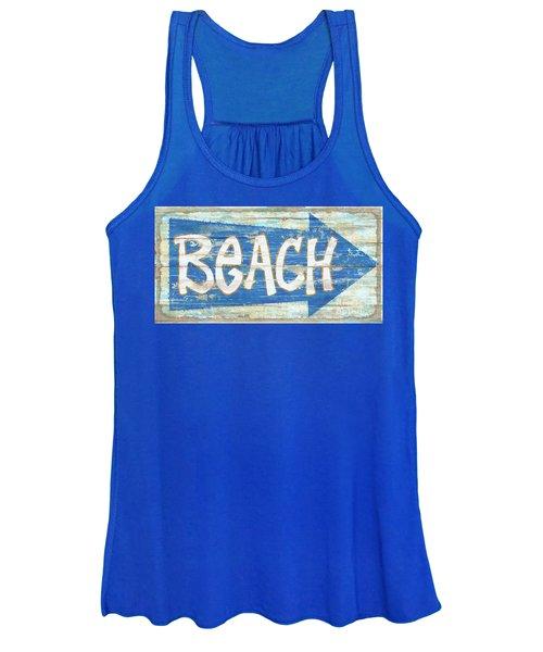 Beach Sign Women's Tank Top
