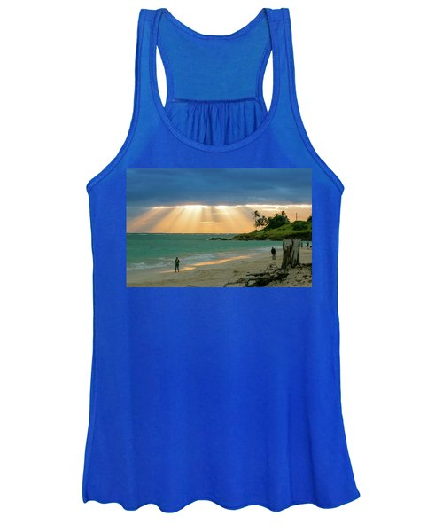 Beach Walk At Sunrise Women's Tank Top