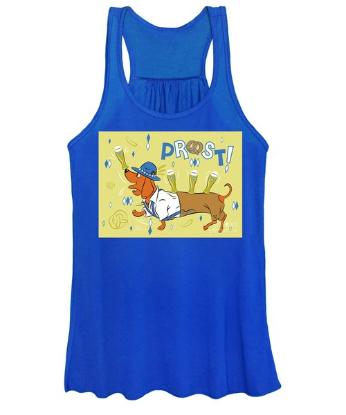 Beer Dachshund Dog Women's Tank Top