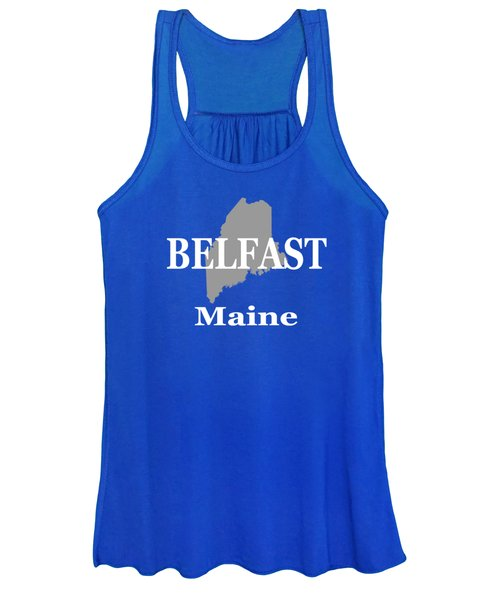 Belfast Maine State City And Town Pride  Women's Tank Top