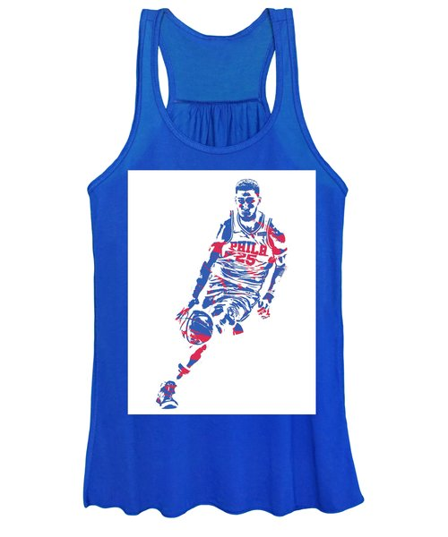 Ben Simmons Philadelphia Sixers Pixel Art 1 Women's Tank Top
