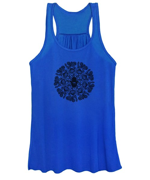 Black And White Hamsa Mandala- Art By Linda Woods Women's Tank Top