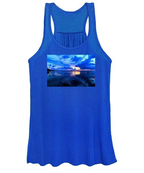 Blazing Blue Sunset Women's Tank Top