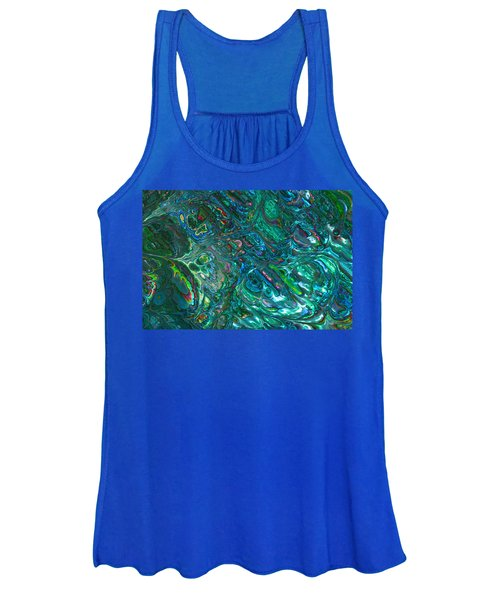 Blue Abalone Abstract Women's Tank Top