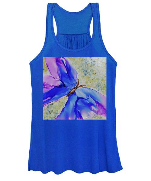 Blue Butterfly Women's Tank Top