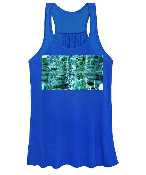 Blue Green Abstract 091015 Women's Tank Top