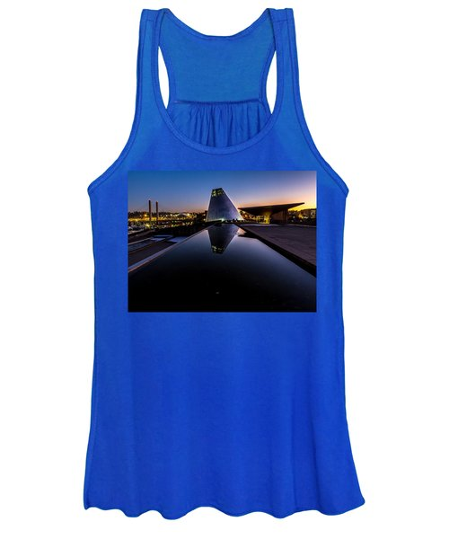Blue Hour Reflections On Glass Women's Tank Top