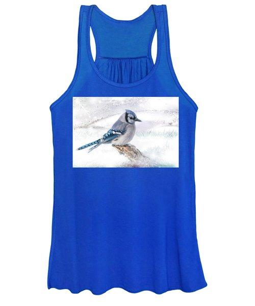 Blue Jay Snow Women's Tank Top