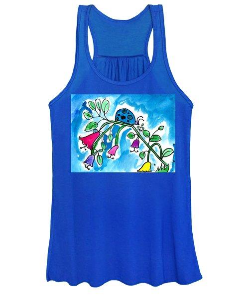 Blue Ladybug Women's Tank Top