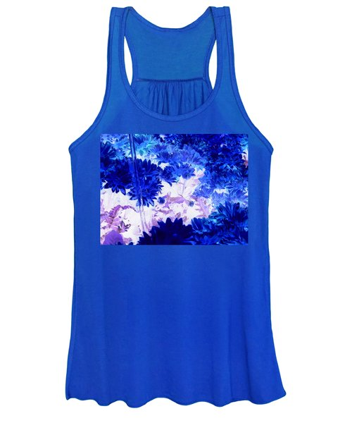 Blue Mums And Water Women's Tank Top