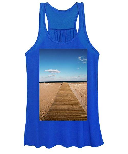 Boardwalk To The Ocean Women's Tank Top