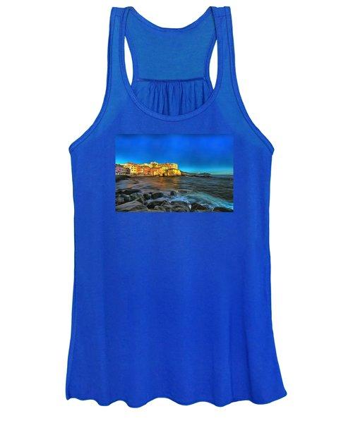 Boccadasse Beach On An Autumn Bright Sunny Day Women's Tank Top