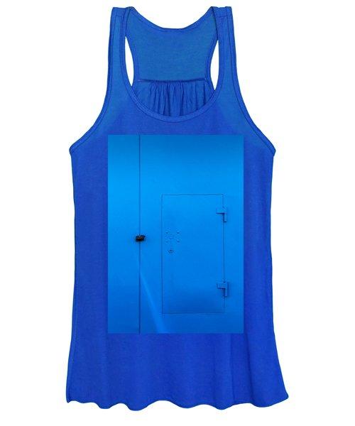 Bright Blue Locked Door And Padlock Women's Tank Top