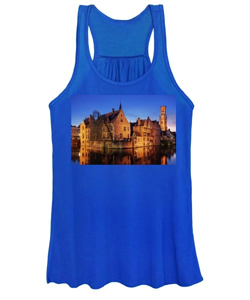 Bruges Architecture At Blue Hour Women's Tank Top