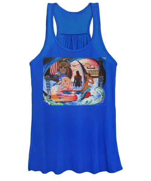 Blaa Kattproduksjoner     Two  Godessess Enjoying  The Nile Spa Women's Tank Top