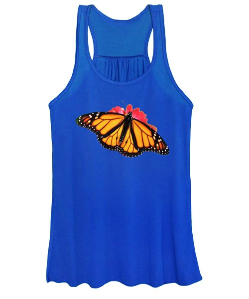 Women's Tank Top featuring the mixed media Butterfly Pattern by Christina Rollo