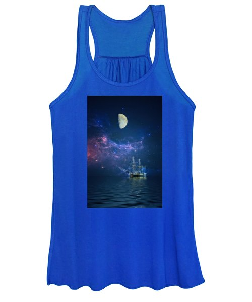 By Way Of The Moon And Stars Women's Tank Top