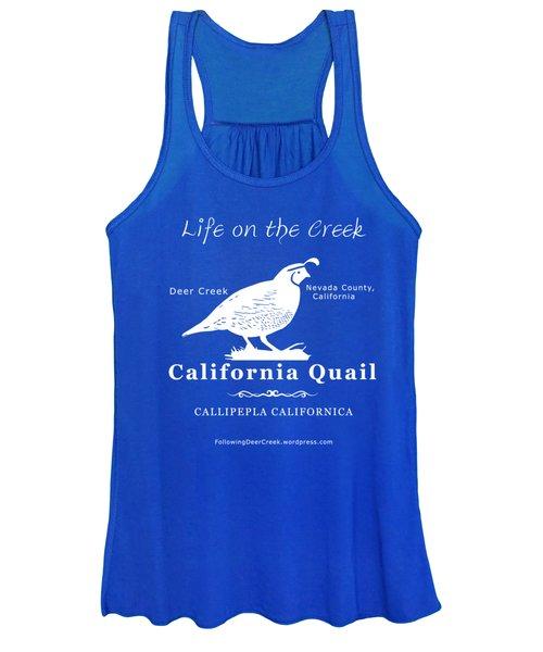 California Quail - White Graphics Women's Tank Top
