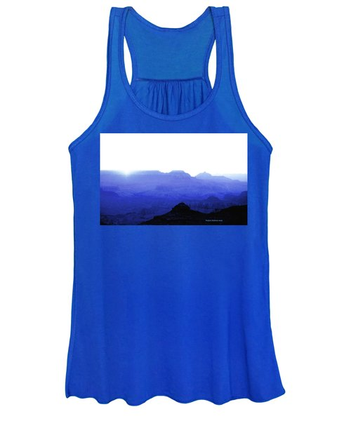 Canyon In Blue Women's Tank Top
