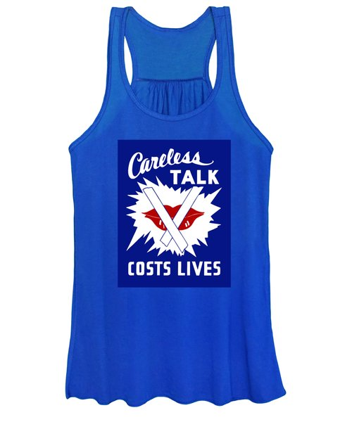 Careless Talk Costs Lives  Women's Tank Top