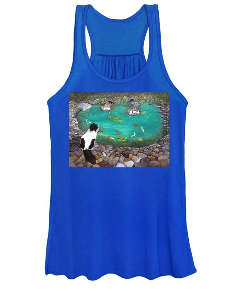 Cats And Koi Women's Tank Top