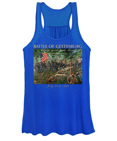 Charge Of The 20th Maine - Joshua L. Chamberlain Leading The 20th Maine Regiment On Little Round Top Women's Tank Top