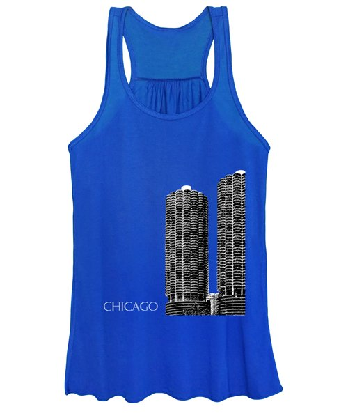 Chicago Skyline Marina Towers - Teal Women's Tank Top