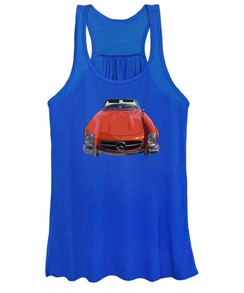 Classic Red Mercedes Benz 300 Sl Convertible Sportscar  Women's Tank Top