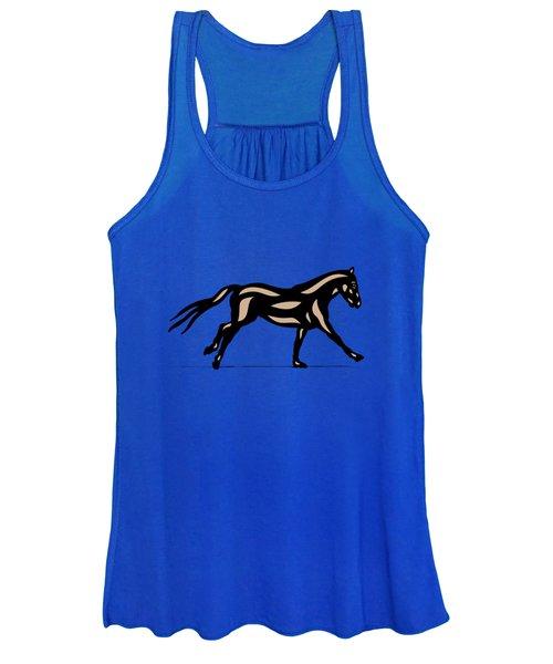 Clementine - Pop Art Horse - Black, Hazelnut, Emerald Women's Tank Top