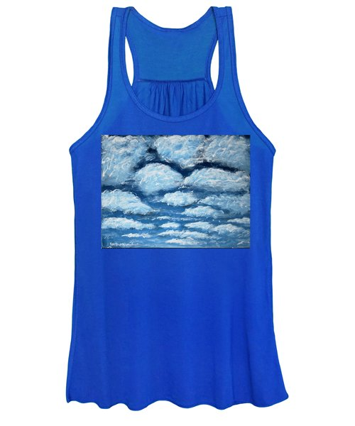 Women's Tank Top featuring the painting Clouds by Antonio Romero